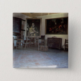 Interior of El Greco's  studio Button