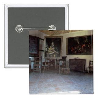 Interior of El Greco's  studio Button