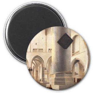 Interior Of Grote Kerk In Haarlem 2 Inch Round Magnet