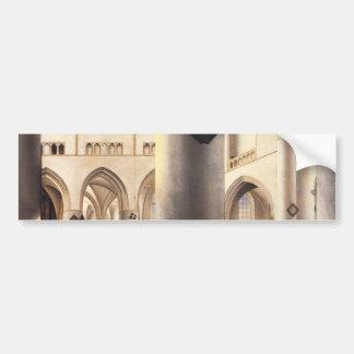 Interior Of Grote Kerk In Haarlem Bumper Sticker