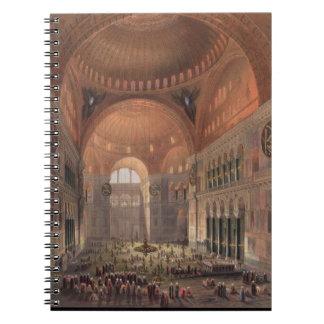 Interior of Haghia Sophia, Constantinople, pub. 18 Notebook