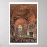 Interior of Haghia Sophia, Constantinople, pub. 18 Poster