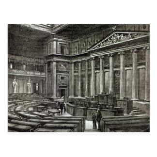 Interior of Houses of Parliament, Vienna Postcard