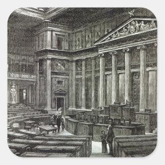 Interior of Houses of Parliament, Vienna Square Sticker