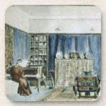 Interior of Kelmscott Manor (w/c on paper) Drink Coasters