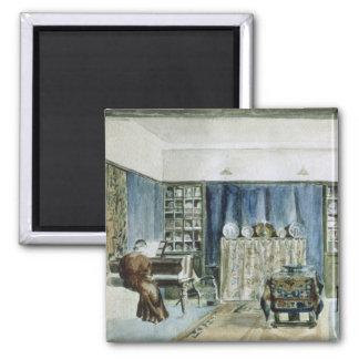 Interior of Kelmscott Manor (w/c on paper) Fridge Magnets