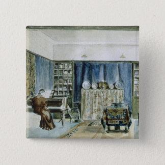 Interior of Kelmscott Manor (w/c on paper) Pinback Button