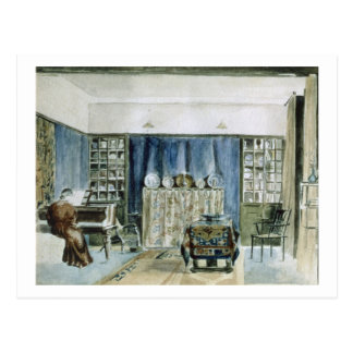 Interior of Kelmscott Manor (w/c on paper) Postcard