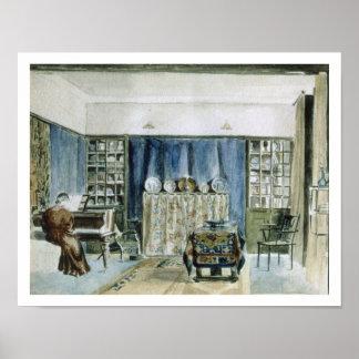 Interior of Kelmscott Manor (w/c on paper) Poster