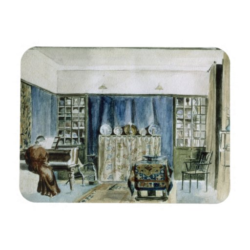 Interior of Kelmscott Manor (w/c on paper) Rectangular Photo Magnet