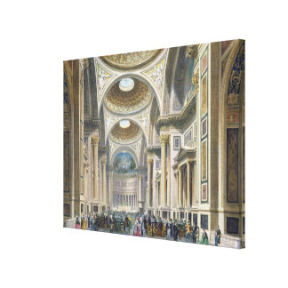 Interior of La Madeleine, Paris Canvas Print