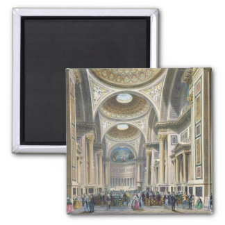 Interior of La Madeleine, Paris 2 Inch Square Magnet