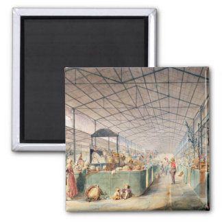 Interior of Les Halles, 1835 Magnet