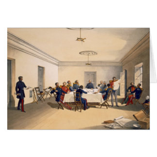 Interior of Lord Raglan's Head Quarters, plate fro Greeting Card