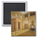 Interior of Louis XIV's bedroom, 1701-23 2 Inch Square Magnet