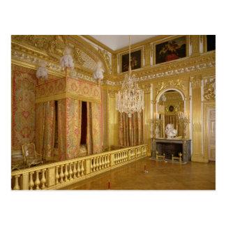 Interior of Louis XIV's bedroom, 1701-23 Postcard