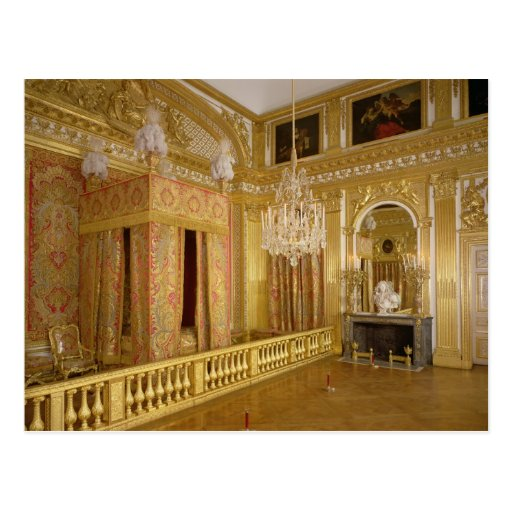 Interior of Louis XIV's bedroom, 1701-23 Post Card