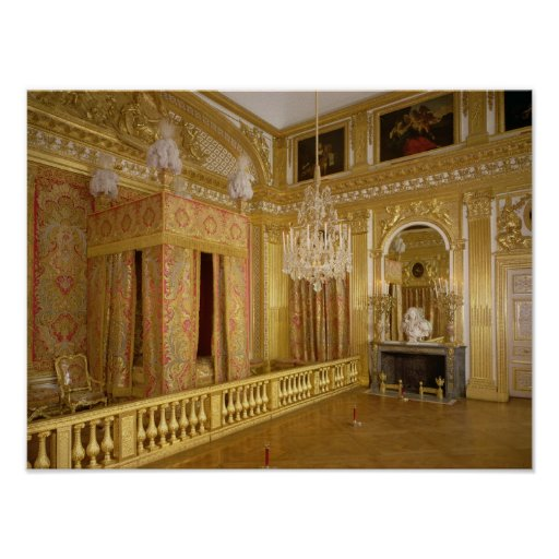 Interior of Louis XIV's bedroom, 1701-23 Posters