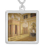 Interior of Louis XIV's bedroom, 1701-23 Square Pendant Necklace