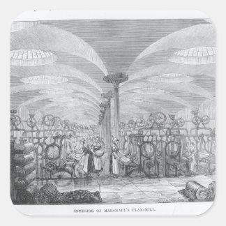 Interior of Marshall's Flax-Mill Sticker