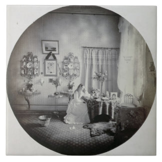 Interior of Muckross House, c.1865 (albumen print) Ceramic Tile