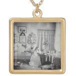 Interior of Muckross House, c.1865 (albumen print) Custom Jewelry