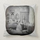 Interior of Muckross House, c.1865 (albumen print) Pillows