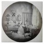 Interior of Muckross House, c.1865 (albumen print) Ceramic Tiles