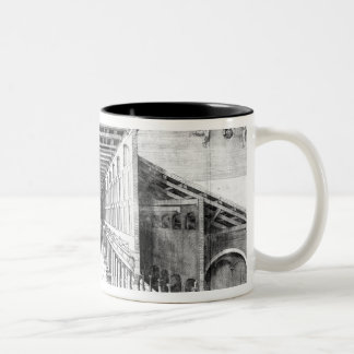 Interior of Old St.Peter's, Rome Two-Tone Coffee Mug