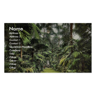 Interior of Palm Houses, Frankfort on Main (i.e. F Business Card Template