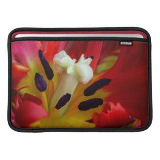 Interior of parrot tulip flower MacBook air sleeves