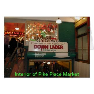 Interior of Pike Place Market Seattle WA Greeting Card