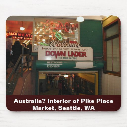 Interior of Pike Place Market Seattle, WA Mouse Pads