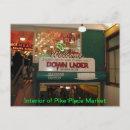 Interior of Pike Place Market Seattle, WA Postcard postcard