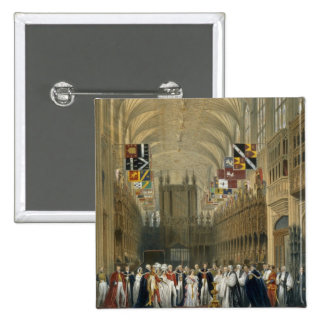 Interior of St George's Chapel, 1838 (colour litho Button
