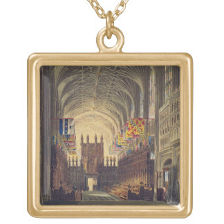 Interior of St. George's Chapel, Windsor Castle, f Gold Plated Necklace