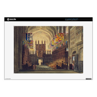 Interior of St. George's Chapel, Windsor Castle, f Laptop Decals