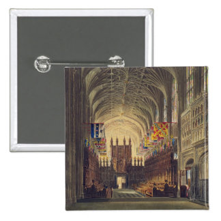 Interior of St. George's Chapel, Windsor Castle, f Pinback Button
