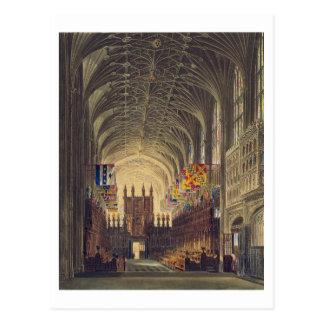 Interior of St. George's Chapel, Windsor Castle, f Postcard