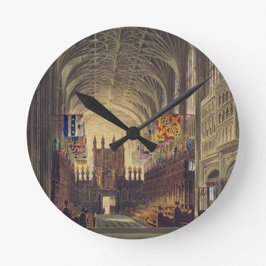 Interior of St. George's Chapel, Windsor Castle, f Round Clock