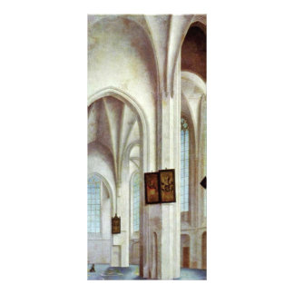 Interior Of St. Jacobskerk In Utrecht By Saenredam Rack Card