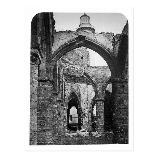 Interior of St. Mathieu France ~ 1856 Postcard