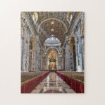 """Interior of St. Peter&#39;s Basilica Jigsaw Puzzle<br><div class=""""desc"""">Interior of St. Peter&#39;s Basilica being prepared for the Easter cermon.</div>"""
