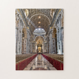Interior of St. Peter's Basilica Jigsaw Puzzle