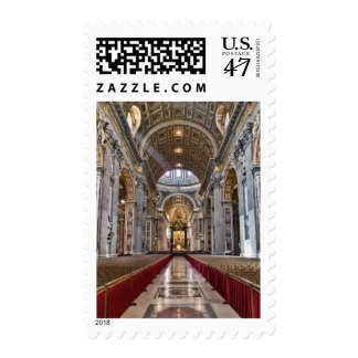 Interior of St. Peter's Basilica Postage