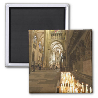 Interior of St. Peter's Cathedral in Regensburg 2 Inch Square Magnet