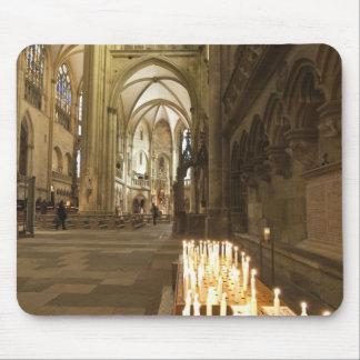 Interior of St. Peter's Cathedral in Regensburg Mouse Pad