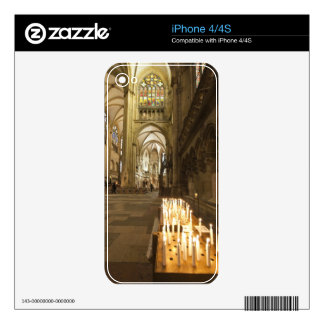 Interior of St. Peter's Cathedral in Regensburg iPhone 4 Skin