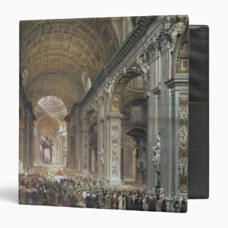 Interior of St. Peter's, Rome, 1867 3 Ring Binder