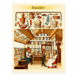 Interior of Swedish House (furniture and cookware) Postcards